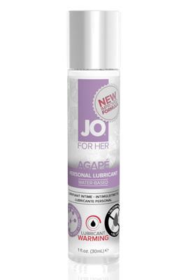 Возбуждающий легкий гипоаллергенный лубрикант JO AGAPE WARMING (30 мл)