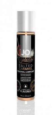 Гелевый вкусовой лубрикант СОЛЕНАЯ КАРАМЕЛЬ на водной основе JO Gelato Salted Caramel Flavored Lubricant (30 мл)