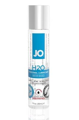 Классический возбуждающий лубрикант на водной основе JO H2O Warming (30 мл)