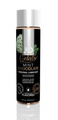 Гелевый вкусовой лубрикант Мятный шоколад на водной основе JO Gelato Mint Chocolate Flavored Lubricant (120 мл)
