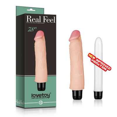 Реалистичный вибратор Real Feel cyberskin Vibrator 7.8 in