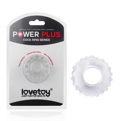 Эрекционное кольцо прозрачное Power Plus Cock Ring