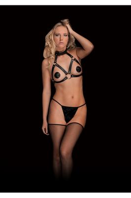 Стильная сбруя из кожаных ремешков Chara Beautiful Breast Harness