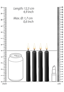 Набор черных восковых BDSM-свечей Teasing Wax Candles