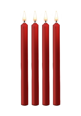 Набор красных восковых BDSM-свечей Teasing Wax Candles Large