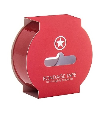 Красная скотч-лента для бандажа Non Sticky Bondage Tape - 17,5 метров