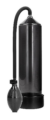 Ручная вакуумная помпа для мужчин с насосом в виде груши Classic Penis Pump, черная