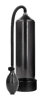 Ручная вакуумная помпа для мужчин с насосом в виде груши Classic Penis Pump черная