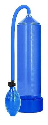 Ручная вакуумная помпа для мужчин с насосом в виде груши Classic Penis Pump голубая