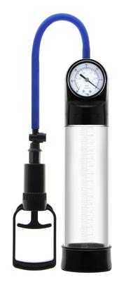 Ручная вакуумная помпа с манометром прозрачная Erozon Penis Pump
