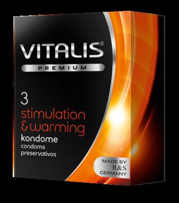 Презервативы Vitalis premium Warming с согревающим эффектом (3 шт)