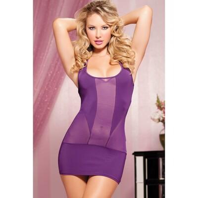 Короткое фиолетовое платье, OS