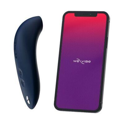 Вакуумно-волновой стимулятор клитора с управлением от смартфона синий We-Vibe Melt