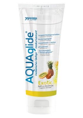 Гель-смазка на водной основе со вкусом экзотических фруктов JoyDivision Aquaglide (100 мл)