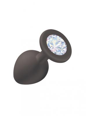 Анальная пробка Emotions Cutie Medium Black moonstone crystal