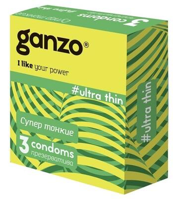 "Презервативы Ganzo ""Ultra thin"" №3 (ультратонкие)"