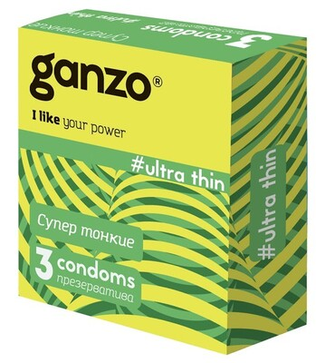 Презервативы супертонкие Ganzo Ultra thin (3 шт)