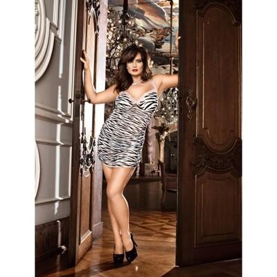 Эротическое мини-платье с анималистичным принтом XL/XXL