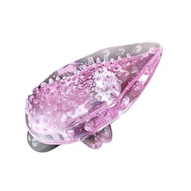 Розовый вибратор для клитора Finger Vibrator