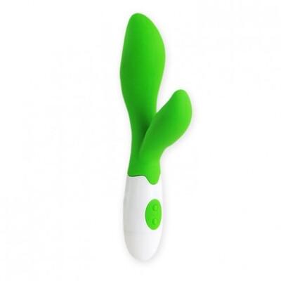 Вибратор с клиторальной стимуляцией Owen, зеленый