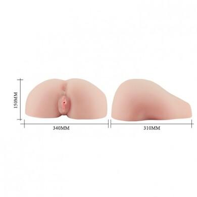 Большой реалистичный слепок вагины и попки с вибрацией Heather Vandeven