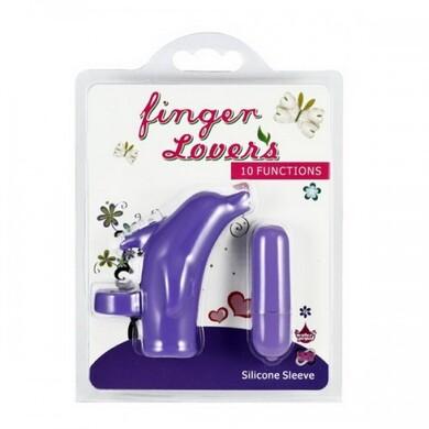 Вибронасадка на палец фиолетовая Finger Lovers