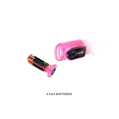 Вибратор Hi-tech со стимулятором клитора Lovely Friend, розовый