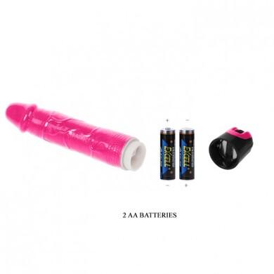 Реалистичный вибратор розовый рабочая длина 18,5 см