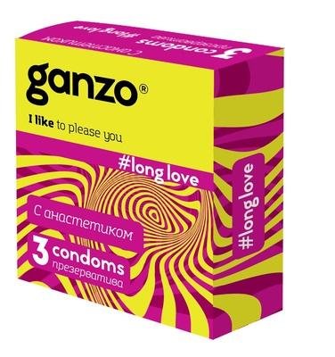 Презервативы с анестетиком Ganzo Long love (3 шт)
