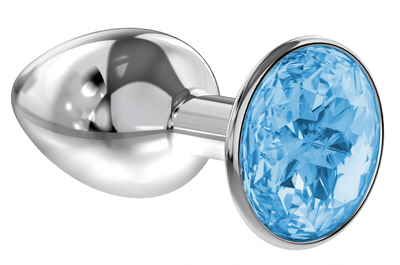 Анальная пробка Diamond Light blue Sparkle Small
