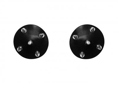 Черные пэстисы с шипами Burlesque Royce