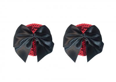 Пэстисы красные с черным бантиком Burlesque Blaze