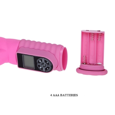 Розовый Hi-Tech Happy Rabbit с 9 функциями вибрации и ротации и LCD экраном