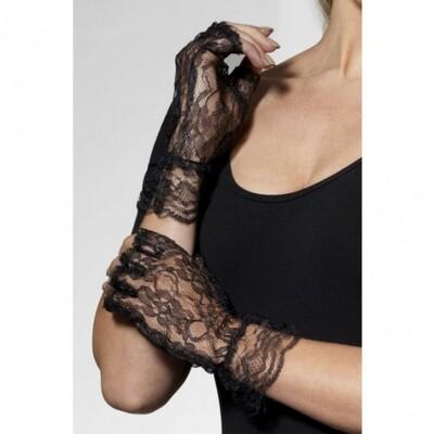 Перчатки черные кружевные Искушение Fever