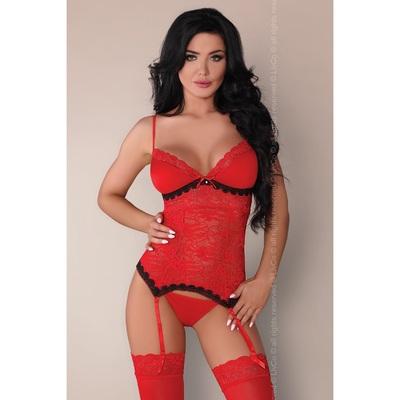 Красный комплект белья из 3 предметов Claudia L/XL