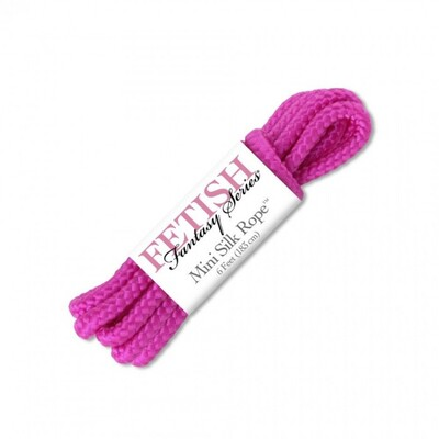 Бондажная верёвка FF Mini Silk Rope розовая