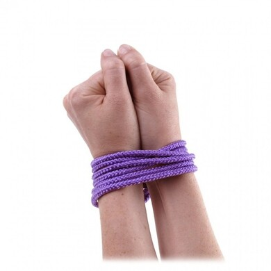 Бондажная верёвка FF Mini Silk Rope фиолетовая