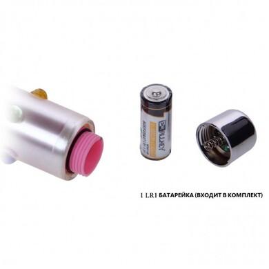 Стеклянный мини-вибратор цветной рельефный