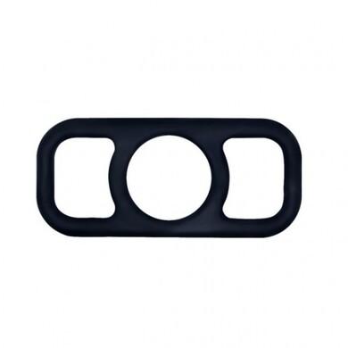 Эрекционное кольцо с петлями чёрное