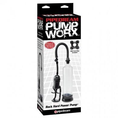 Вакуумная помпа для пениса Pump Worx Rock Hard Power Pump