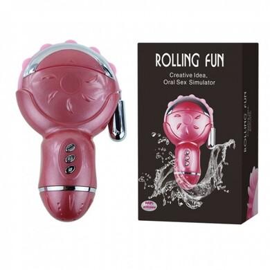 Клиторальный стимулятор с отростком Rolling Fun