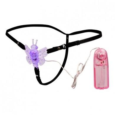 Вибростимулятор клитора на ремешках фиолетовый