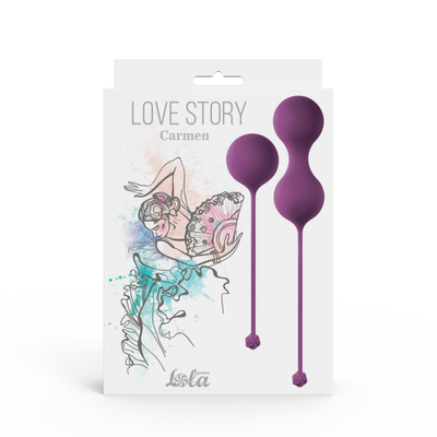 Набор вагинальных шариков Love Story Carmen Lavender Sunset лавандовый