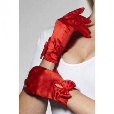 Красные атласные перчатки Леди