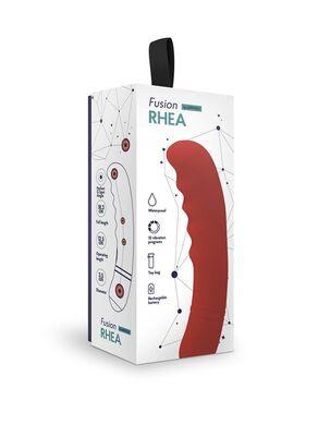 Вибратор для G-точки Rhea красный