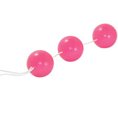 Три вагинальных шарика на сцепке Sexual Balls розовые