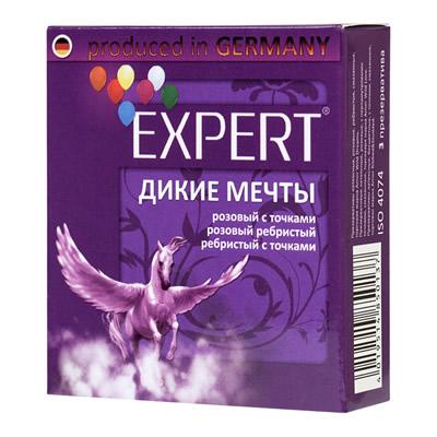 Презервативы Expert ''Дикие мечты'' №3 микс: ребристые, с точками, прочные