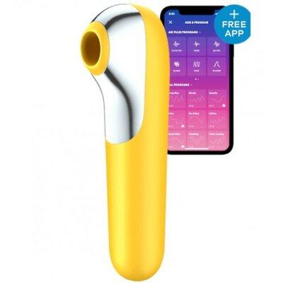 Вакуумно-волновой вибратор Satisfyer Dual Love с управлением от смартфона желтый