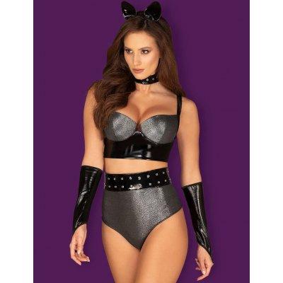 Сексуальный костюм женщины-кошки Silveria S/M