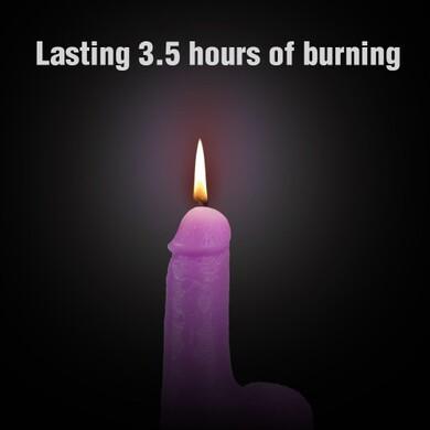 Фиолетовая восковая свеча в форме члена 156 грамм